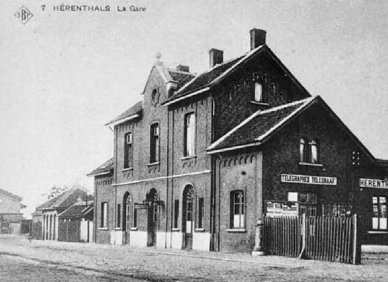 Les gares belges d 39 autrefois la gare de herentals het for Garage de la gare bretigny
