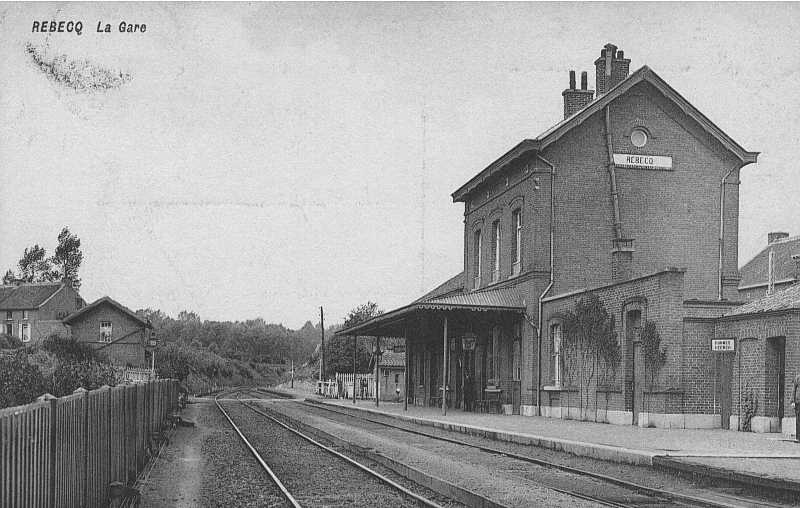 Les gares belges d 39 autrefois la gare de rebecq guy for Garage de la gare bretigny