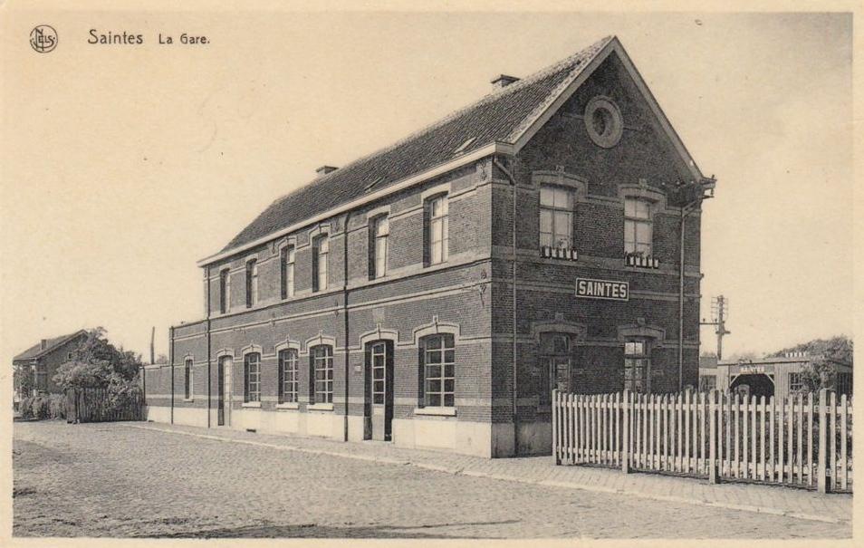 Les gares belges d 39 autrefois la gare de saintes guy for Garage de la gare bretigny