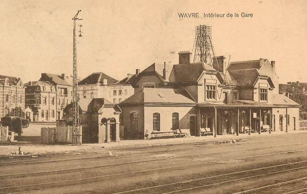 Les gares belges d 39 autrefois la gare de wavre guy demeulder for Garage de la gare bretigny