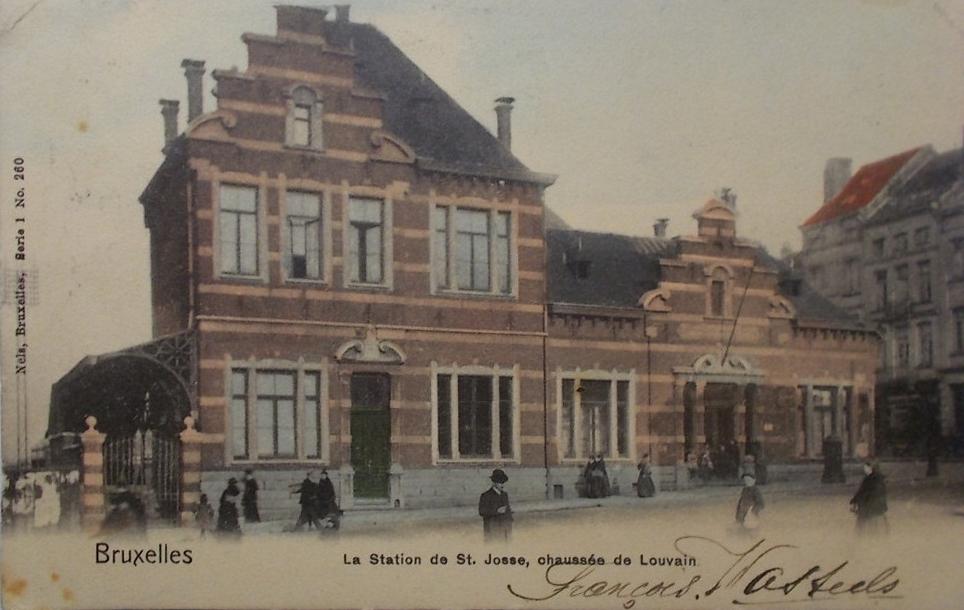Les gares belges d 39 autrefois bruxelles chauss e de - Garage chaussee de bruxelles dampremy ...