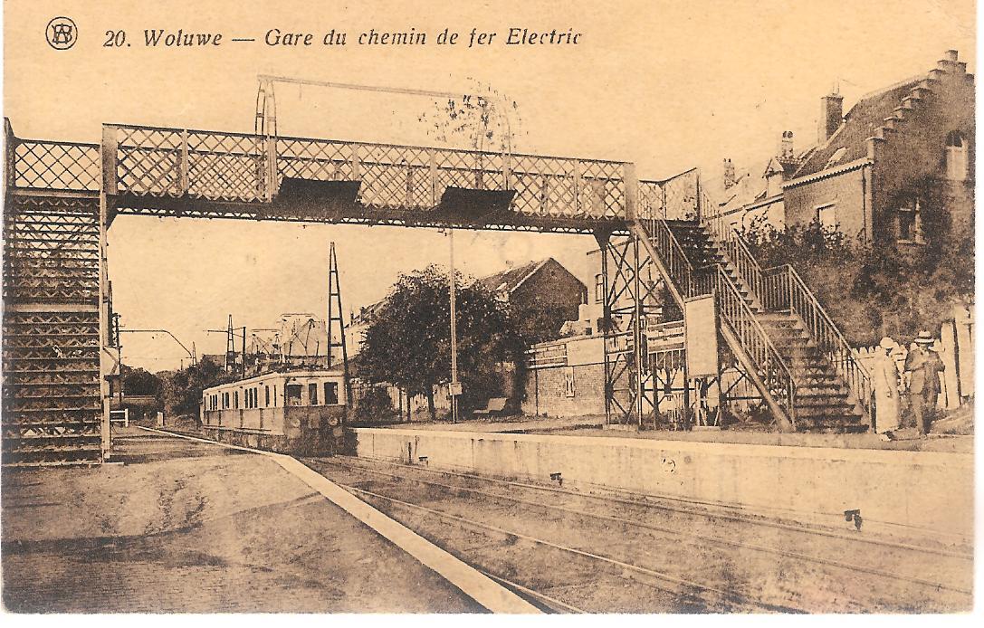 Les gares belges d 39 autrefois la gare de woluw saint for Auto interieur reinigen antwerpen