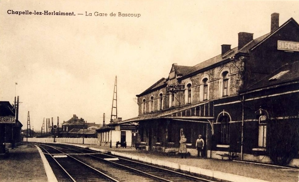 Les gares belges d 39 autrefois la gare de bascoup guy for Garage de la gare bretigny