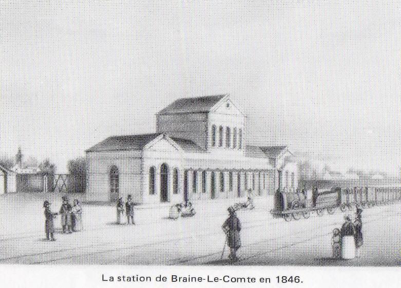 Les gares belges d 39 autrefois la gare de braine le comte for Braine le comte piscine