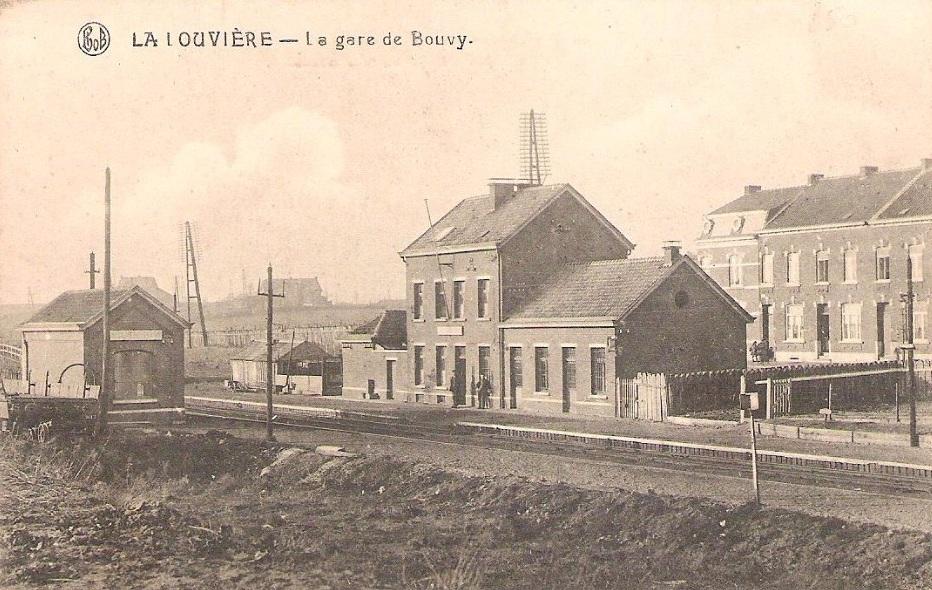 les gares belges d 39 autrefois la gare de la louvi re bouvy guy demeulder. Black Bedroom Furniture Sets. Home Design Ideas