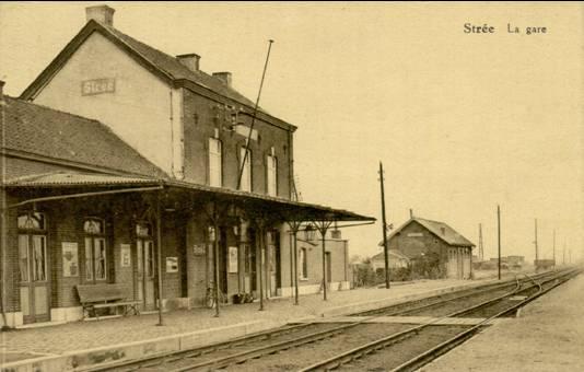 Les gares belges d 39 autrefois la gare de str e guy demeulder for Garage de la gare bretigny