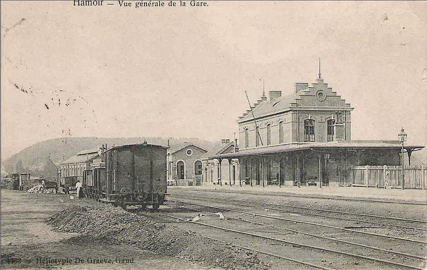 Les gares belges d 39 autrefois la gare de hamoir guy for Garage de la gare bretigny