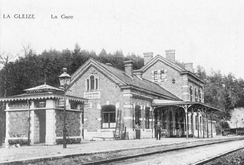 Les gares belges d 39 autrefois la gare de la gleize guy for Garage de la gare bretigny