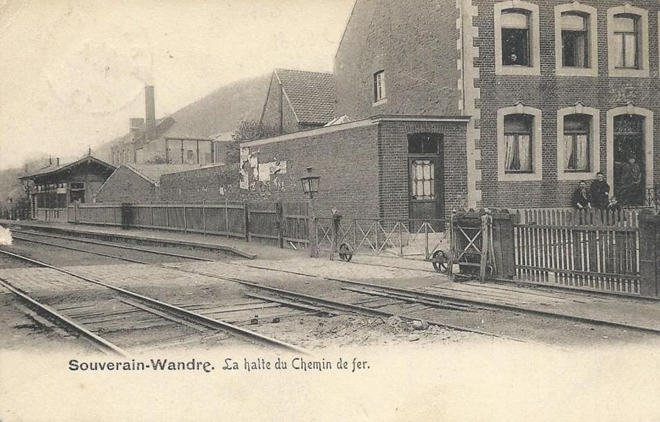 Les gares belges d 39 autrefois la halte de souverain wandre guy demeulder - La halte d autrefois ...