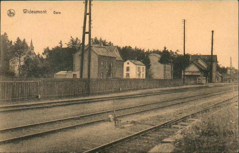 Les gares belges d'autrefois. La gare de Wideumont. Guy ...