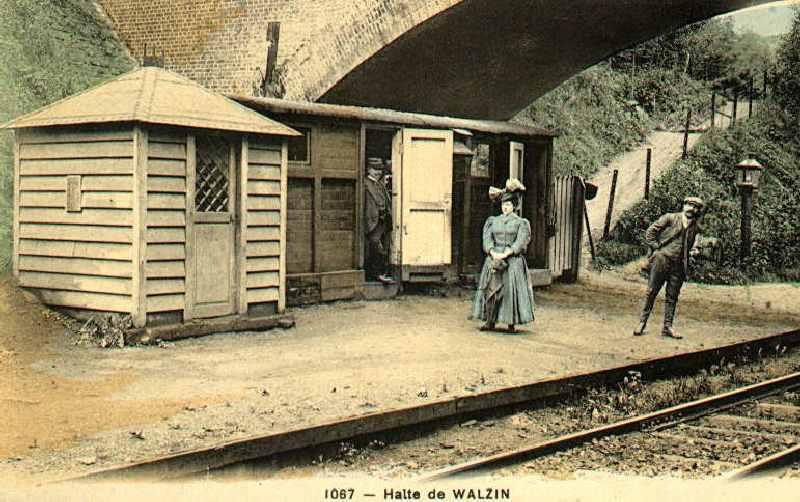 Les gares belges d 39 autrefois walzin la halte guy demeulder - La halte d autrefois ...